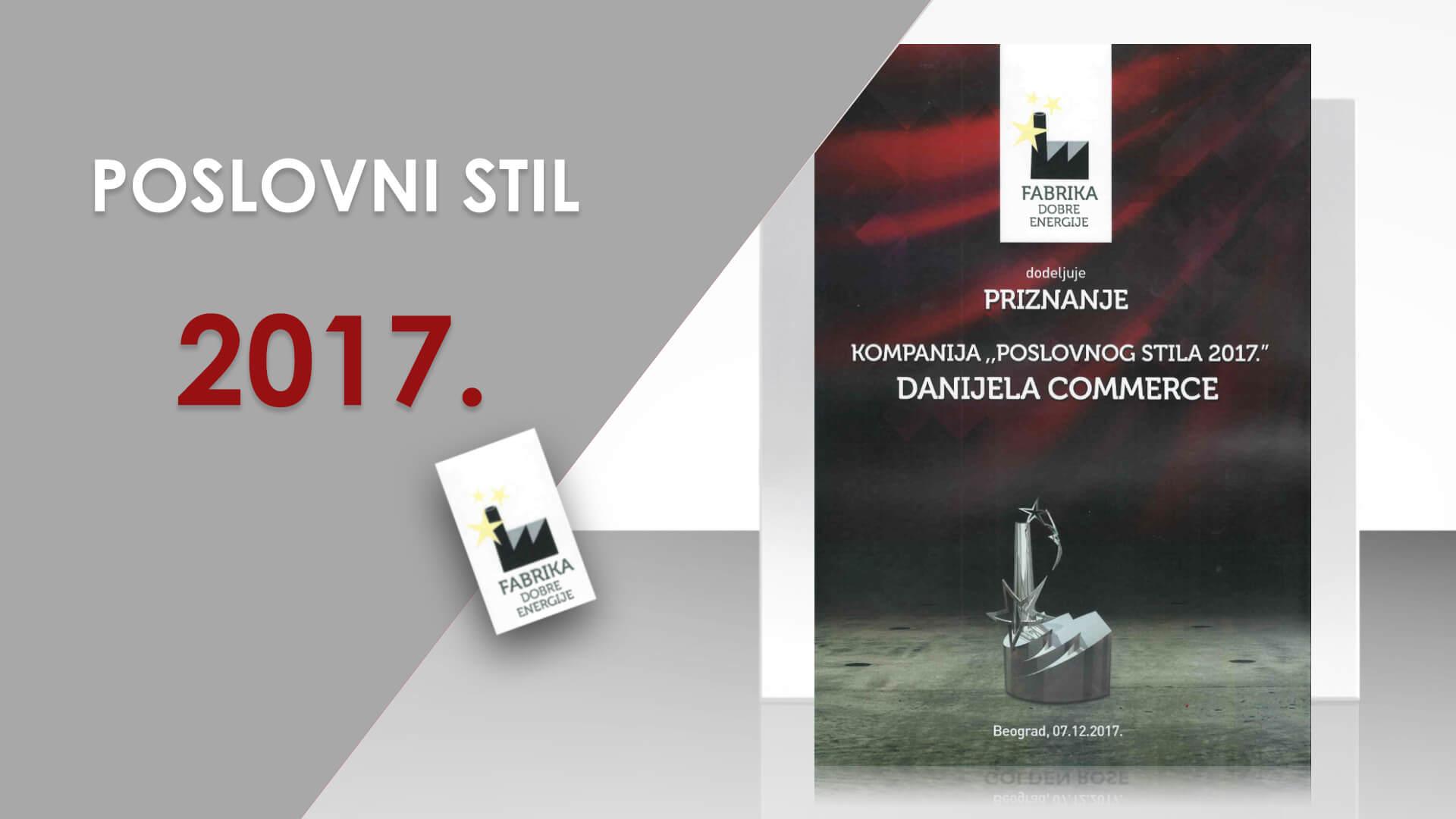 Danijela Commerce nagrada Poslovnog stila 2017