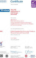 Trisa sertifikat - BRC EN